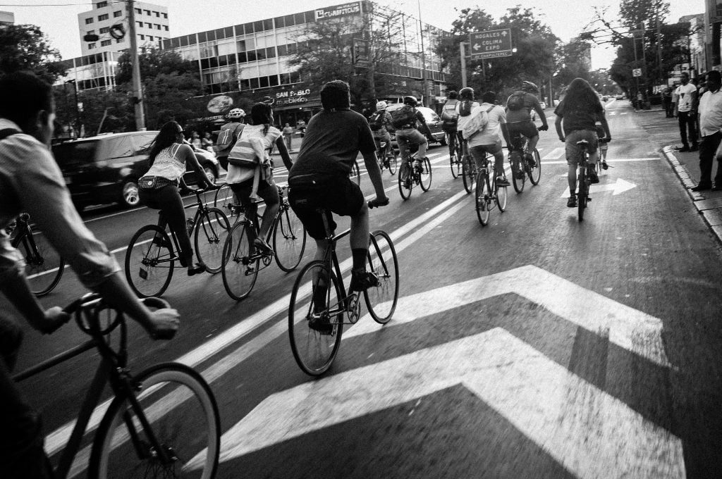 UberEats配達員レベル分け 中級(たくさんの自転車乗り)