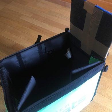 ウバッグ 畳み方 横の板を抜く