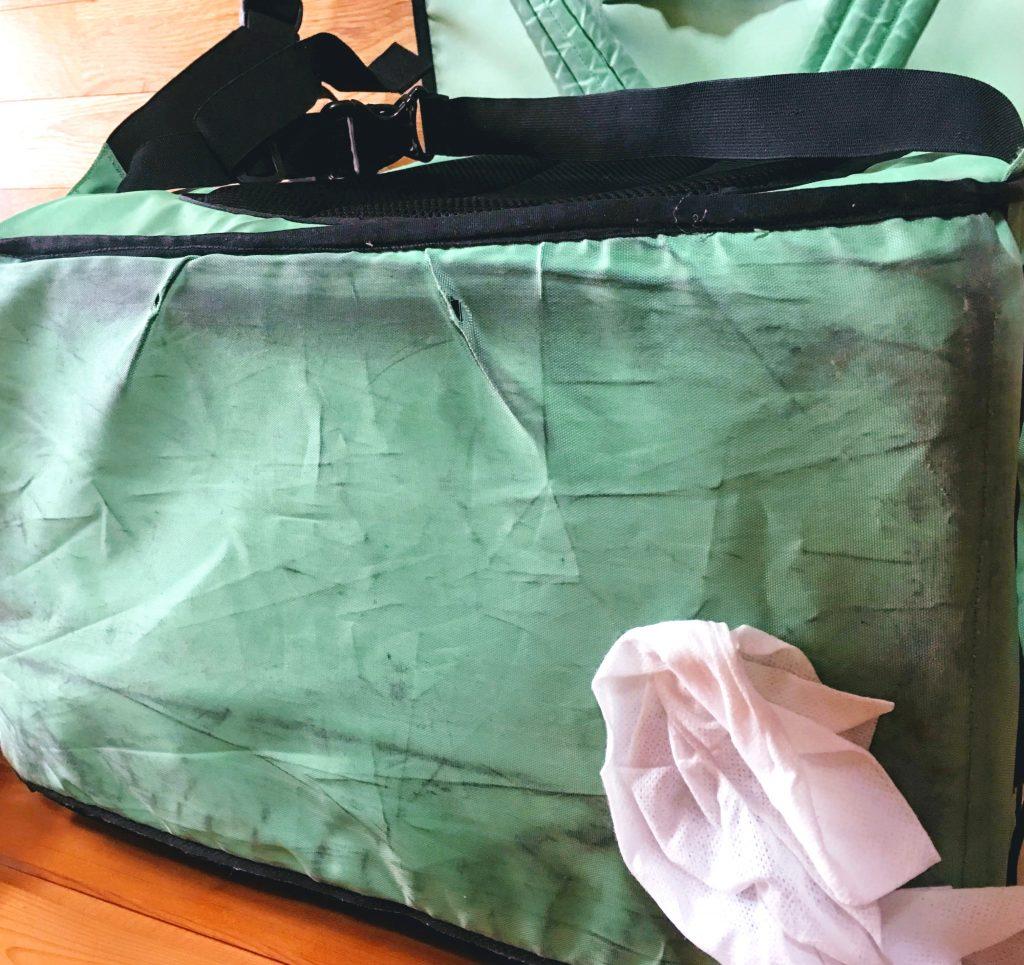 ウバッグの洗い方 底面