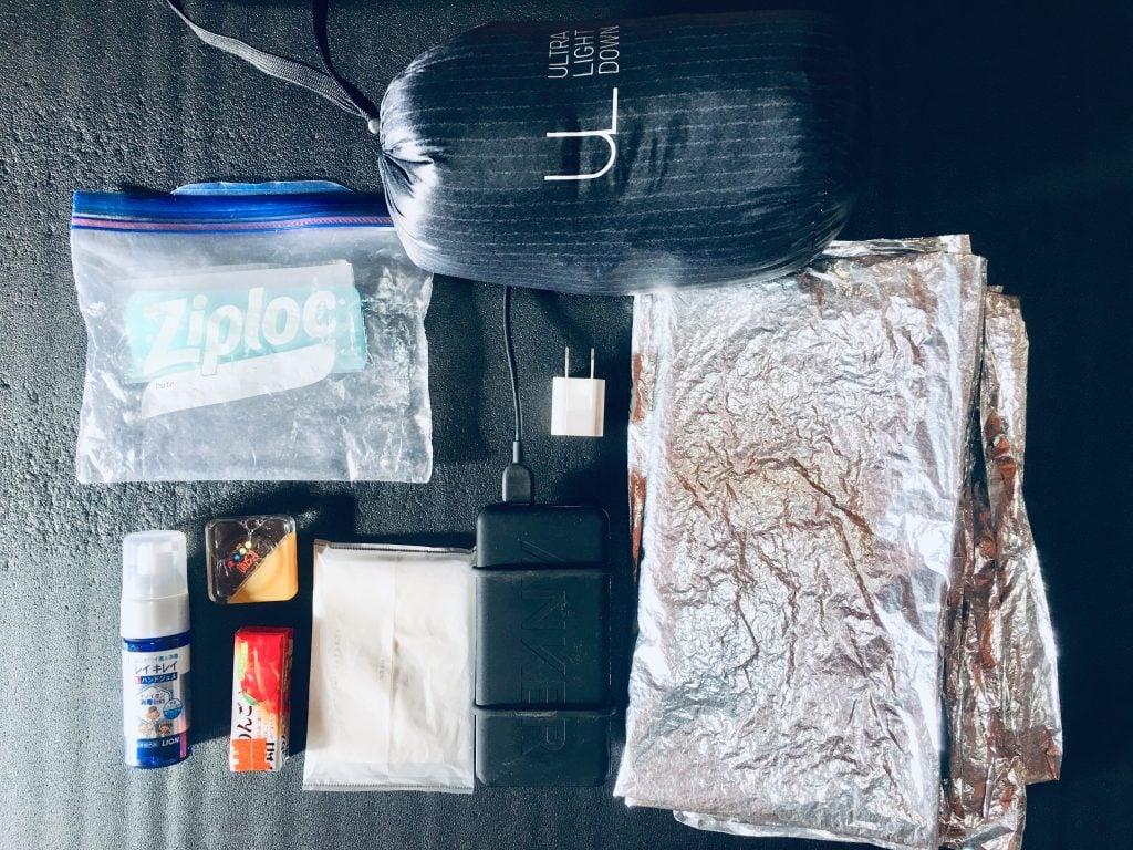 ウバッグの中の常備アイテム