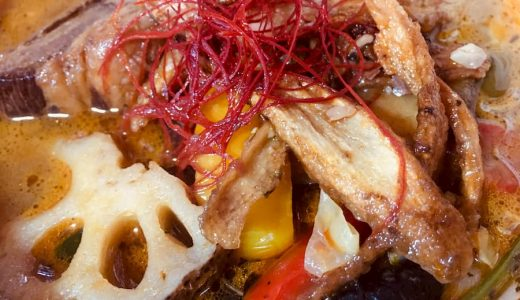 【無添加薬膳スープカレーCOSMOS】『20種類の野菜と豚角煮のスープカレー』豊穣の海へダイブせよ