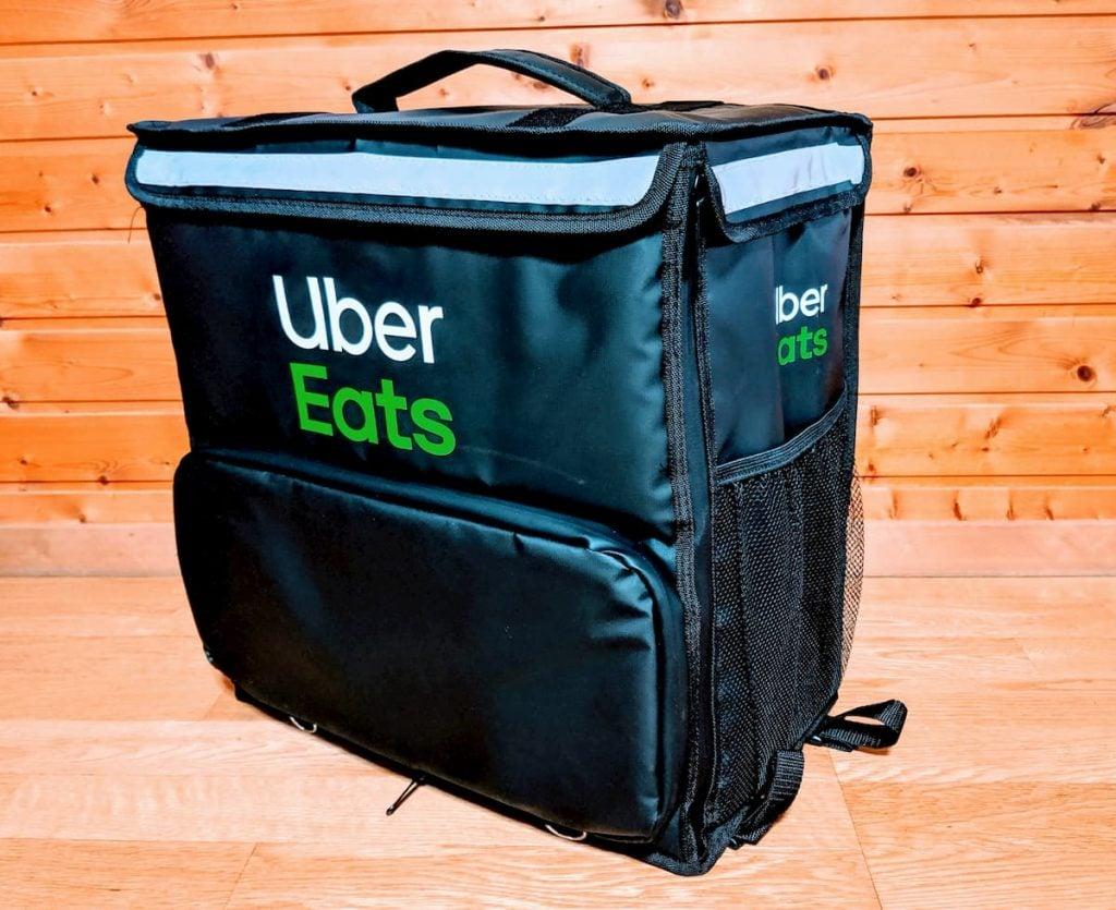 Uber Eatsバッグ 配達バッグ 新黒 ウバッグ ウーバーイーツバッグ