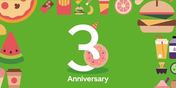 Uber Eats(ウーバーイーツ)3周年キャンペーン