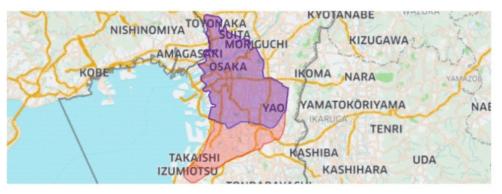 ウーバーイーツ大阪 エリア拡大