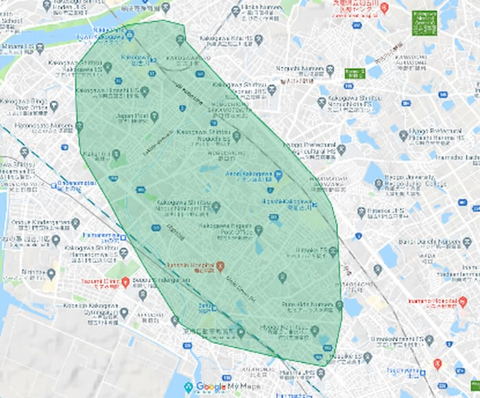 Uber Eats加古川市 配達エリア