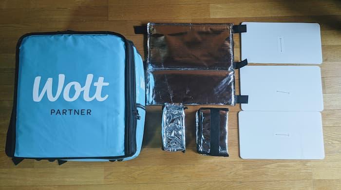 Wolt(ウォルト) 配達バッグ 初期装備 組み立て方