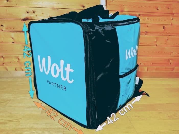 Wolt(ウォルト) 配達バッグ 拡張時 サイズ